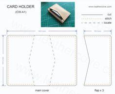 Bifold Card Wallet Pattern – PDF