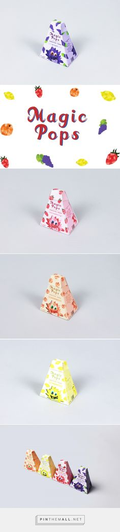 Magic Pops candy by Sidney Perizada. Source: Behance. Pin curated by #SFields99 #packaging #design #inspiration #box #candy #children #cute