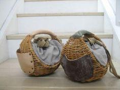 straw . fabric . leather . handcrafted handbags . ebagos: acoustics1F