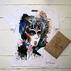TANCY: Handpainted unique t-shirts