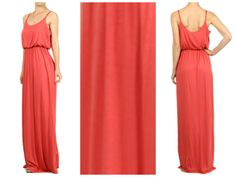 Summer Tank Maxi Dress Coral│Andy Boutique Womens online shopping fashion www.andyboutique.com
