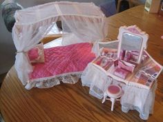 Dream Glow Barbie Bed and vanity.  I had and loved the vanity but never got the bed. :(