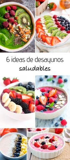 Desayunos saludables: ideas fáciles y deliciosas! Healthy Desayunos, Healthy Smoothies For Kids, Healthy Breakfast Smoothies, Healthy Recipes, Healthy Nutrition, Real Food Recipes, Healthy Snacks, Healthy Eating, Nutritious Breakfast