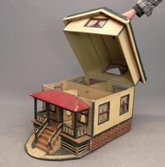 Buy online, view images and see past prices for Doll House. Invaluable is the world's largest marketplace for art, antiques, and collectibles. Wooden Dollhouse, Diy Dollhouse, Dollhouse Furniture, Dollhouse Miniatures, Diy Furniture, Popsicle Stick Crafts House, Craft Stick Crafts, Miniature Houses, Miniature Dolls