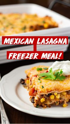 Quick Recipes, Easy Dinner Recipes, Cooking Recipes, Easy Freezer Meals, Easy Dinners, Mexican Lasagna, Recipe Instructions, One Pot Meals, Casseroles