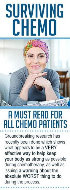 Please share this with anyone you know undergoing chemotherapy now or in the future, it could mean the difference between life and death