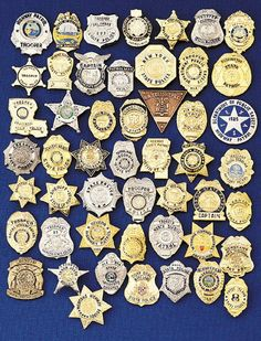Collection of police badges