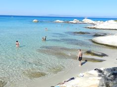Greece, Sithonia, Orange beach Orange Beach Sithonia, Beautiful Islands, Beautiful Places, Halkidiki Greece, Sandy Beaches, Greek Islands, Seas, Vacation Ideas, Travelling