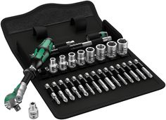 WERA 05004016001 Metric 1/4-inch Drive Zyklop 8100 SA6 Metal-Speed Multi-Function Ratchet and Socket Set (28 Pieces)