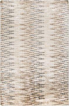Surya Platinum PLAT9026 Neutral/White Modern Area Rug