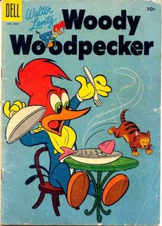 A cover gallery for the comic book Woody Woodpecker Mickey Mouse Cartoon, Cartoon Tv, Vintage Cartoon, Vintage Comics, Old School Cartoons, Random Cartoons, Funny Animal Comics, Comic Art, Comic Books