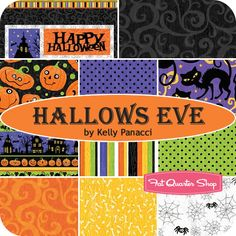 Hallows Eve Fat Quarter Bundle Kelly Panacci for Northcott Fabrics