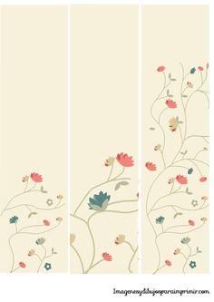 Marcapaginas con flores para imprimir