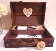 Rustic Wine Ceremony Trunk Love Letter Box Wedding Card First Fight Anniversary