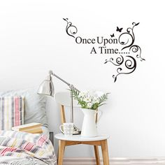 Wall Sticker Once Upon A Time Removable Vinyl Decal Wallpaper DIY Decor Quote   eBay