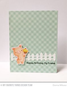Hog Heaven Stamp Set and Die-namics, Farm Fence Die-namics, Beary Special Birthday Stamp Set, Blueprints 25 Die-namics - Donna Mikasa  #mftstamps