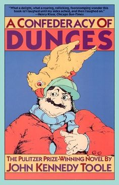 "9 Beloved Books That Almost Never Saw The Light Of Day ~ ""A Confederacy of Dunces"" by John Kennedy Toole ~ Toole sent his manuscript to many publishers, who didn't see its worth. The rejections were crushing to the writer, who eventually committed suicide. His mother tracked down a copy & sent it to more publishers & coaxed Walker Percy, an author from the same city, to read the book. Once it had his backing, it was not only published, but Toole was awarded the Pulitzer Prize posthumously."