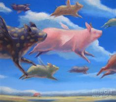 Pigs Can Fly Poster by Raed Al-Rawi. All posters are professionally printed, packaged, and shipped within 3 - 4 business days. Choose from multiple sizes and hundreds of frame and mat options.