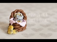 Polymer Clay Tutorial Pusheen in a Cookie Basket - YouTube