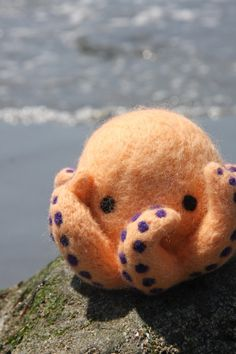 needle felted octopus, absolutely adorable but $68? I have GOT to start selling some of my stuff