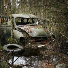 sinking abandoned car