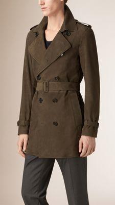 Trench coat in nabuk