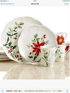 I would love to have a set of Christmas dishes. Lenox Winter Meadow at Macyu0027s.  sc 1 st  Pinterest & LENOX HOLIDAY NOUVEAU PLATINUM WHITE CHRISTMAS DINNERWARE BONE CHINA ...