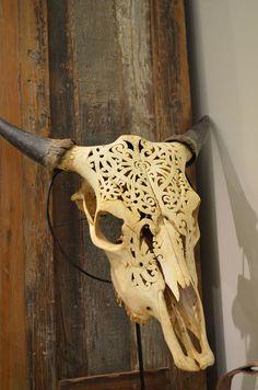 The Design Hunter finally opens it's doors…. Bone Carving, Whittling, Skull And Bones, Skull Art, Antlers, Horns, Accent Decor, Interior And Exterior, Giraffe