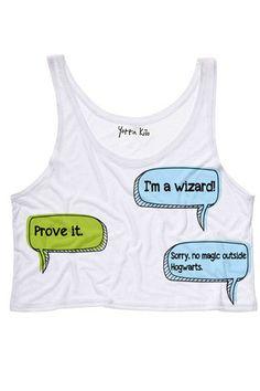 No Magic Outside of Hogwarts Crop Tank Top - Yotta Kilo