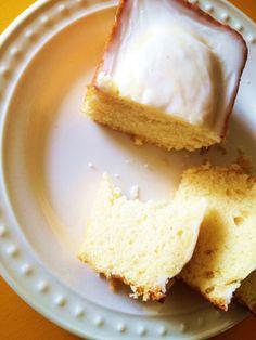 Favorite Lemon Loaf/Bundt Cake with Thick Lemon Glaze // TheCarboholic.com