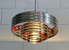 corrugated metal pendant lamp, diameter 500 mm