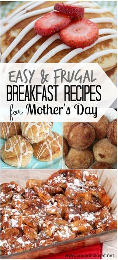 Make Mom something delicious for breakfast in bed - here are 25 Breakfast Recipes for Mother's Day