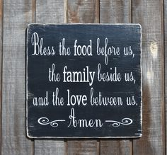 Bless The Food Before Us  Beautiful Blessing by CarovaBeachCrafts, $49.00