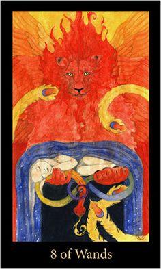 Mary-el Tarot — Eight of Wands