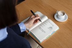 """Behind the scenes: Another shot of expresso and angle of the """"perfect"""" notebook."""