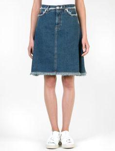 Acne Studios Gisella Blue Skirt Natural Blue Vintage