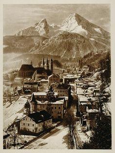 Watzmann Mountain, Berchtesgaden, Germany, 1925    photo by Kurt Hielscher