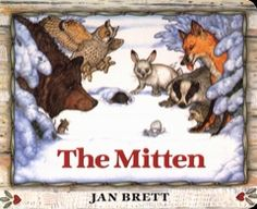 This is one of the titles of books for children that you can read for free from We Give Books.Org called The Mitten. Classic tale. We have this book and love it.