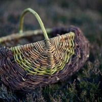 Frame basket in Willow and Heather - want to learn how to make this!