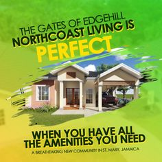 New homes for sale in Jamaica. Beautiful modern bungalows with fashionable features and finishes. Resort style living on The Rock. Life In Paradise, Modern Bungalow, New Community, Resort Style, New Homes For Sale, Be Perfect, Open House, Jamaica, Caribbean