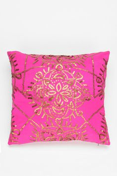 Magical Thinking Pink and Gold Star Medallion Pillow Vintage Glam, Header, Meditation Pillow, Meditation Space, Floor Pillows, Throw Pillows, Magical Thinking, Bachelorette Pad, Décor Boho