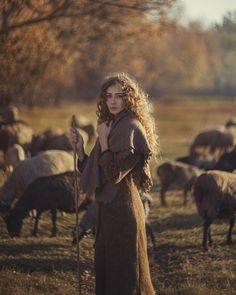 girl and sheep retro,  shepherd by David Dubnitskiy - Photo 125771763 - 500px