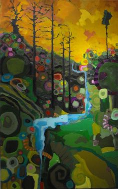 Susan Schiesser - fun, whimsical, and colorful.
