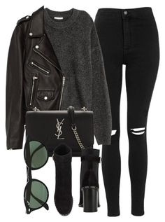 A fashion look from October 2017 featuring Jakke, destroyed skinny jeans and ankle boots. Browse and shop related looks. Edgy Outfits, Cute Casual Outfits, Winter Outfits, Fashion Outfits, Womens Fashion, Buckle Outfits, Look Fashion, Korean Fashion, Winter Fashion