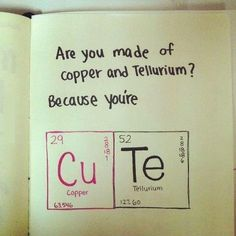 Cute pick-up line