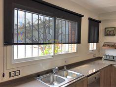 cortinas enrollables color antracita de facil limpieza en cocina solart enrollables estores