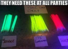 Woild definitely be awesome to have these at a party. Maybe even at a bachelor/bachelorette party or a wedding reception. I think this is a great idea!
