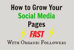 Work at Home Wisdom: How to Grow Your Social Media Pages Fast: An Inorganic Method to Gain Organic Followers