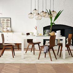 Parsons Rectangular Dining Table - White | west elm