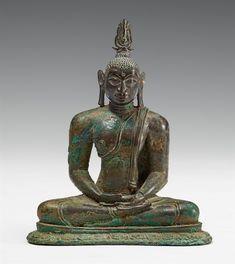 A Sri Lankan bronze figure of Buddha Shakyamuni. Divided Kingdom Period, 16th century, Auction 1080 Asian Art, Lot 626